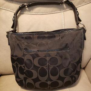 Authentic Large Coach Black Soho Hobo Handbag